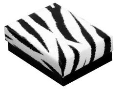 """Zebra Print - 7 1/8"""" x 5 1/8"""" x 1 1/8""""H"""