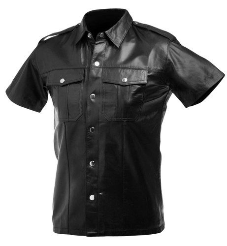 Lambskin Leather Police Shirt (Large)
