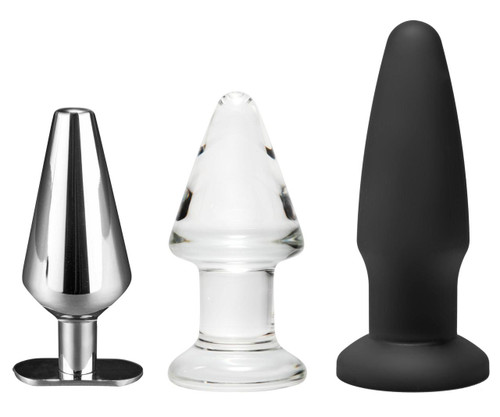 Intro to Toy Materials 3 Piece Anal Plug Kit (AE710)