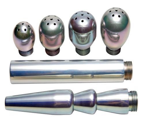 6 Piece Deluxe Aluminum Enema Tip Set