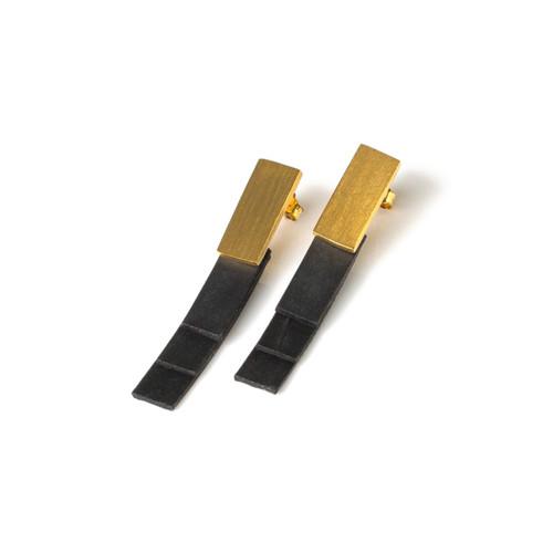 Gold Column Earrings