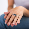 Silver Slim Winged Ring
