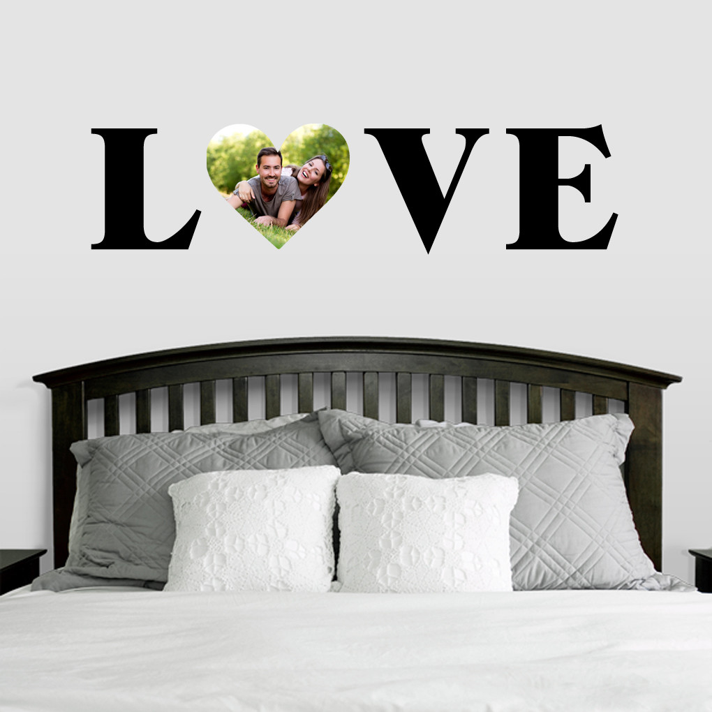 custom love photo wall decals home decor stickers. Black Bedroom Furniture Sets. Home Design Ideas