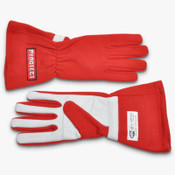 GLOVES RACING 2 LAYER SFI-5 LARGE RED