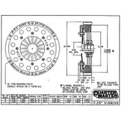 "QM 7.25"" V-Drive Aluminum Bellhousing Kits"