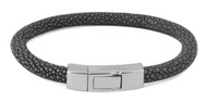 Galuchat Bracelet - Grey Shagreen Medium