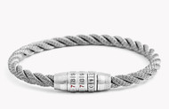 Combination Lock Bracelet - Grey Large