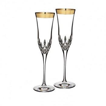 Lismore Essence Gold Champagne Flute