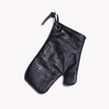 Oven Gloves - Crocodile Black
