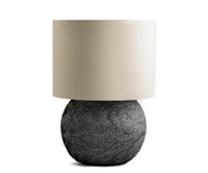 Gilles Caffier Round Earthenware Table Lamp