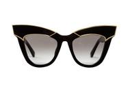 DEPOTISM - Gloss Black with Gold Trim / Black Gradient Lens
