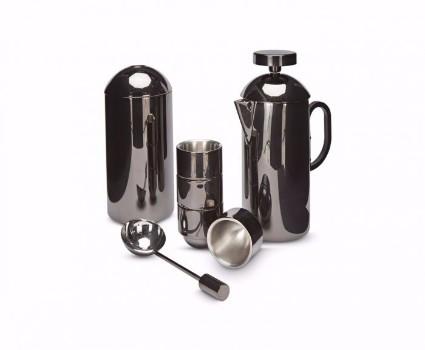 Brew Cafetiere Gift Set - Black