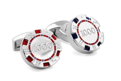 Poker Chips Cufflinks - Blue/Red