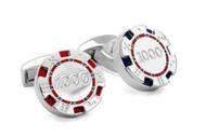 Poker Chips Cufflinks - Blue/Red