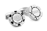 Poker Chips Cufflinks - Black/White