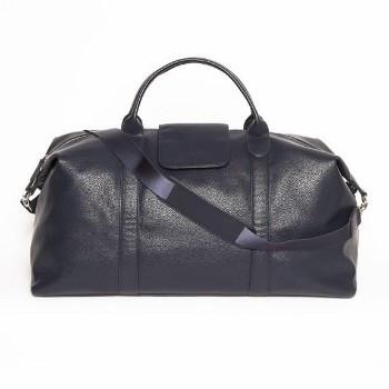Stanford Black Duffel Bag - Genuine Leather