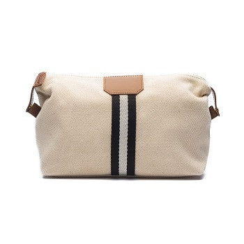 Original Toiletry Bag - Beige with Blue & White Strap