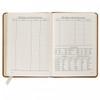 Desk Diary - Light Gray Open