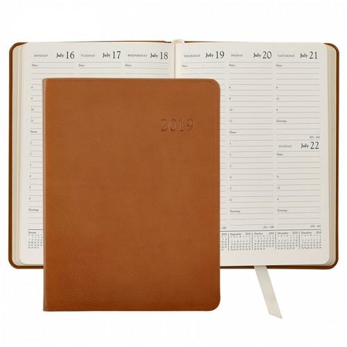 Desk Diary - British Tan
