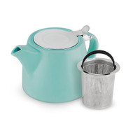 Harper Blue Ceramic Teapot & Infuser Styled