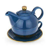 Addison Dark Blue and Gold Tea for One