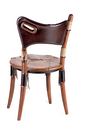 Cook island chair, chair height, brompton, royal oak, leather - Back View