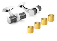 Montecarlo Interchangable Black Rhodium & 2 Micron Yellow Gold Plated Cufflinks
