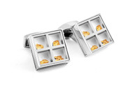 Precious Window Gold Nuggets approx. 0.838g Cufflinks