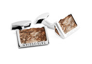 Rough Edge Smokey Quartz Cufflinks