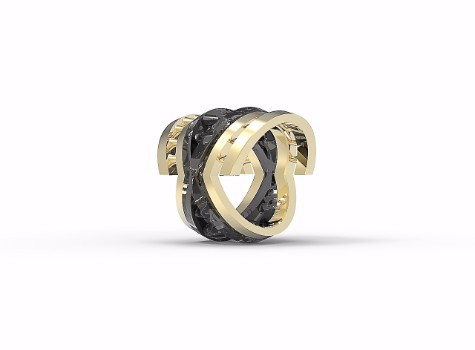 Interiority Ring - Brass Angled View