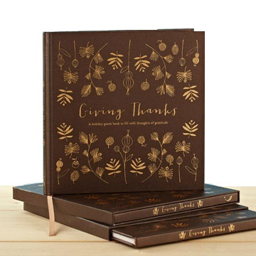 Giving Thanks Guest Book