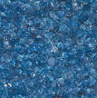 """HPC Fire Pit Glass - Arctic Blue 1/4"""""""