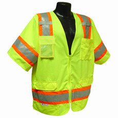 RADIANS CLASS 3 SURVEYOR VEST, HI-VIZ GREEN - SV63 - Front Side