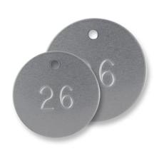 Numbered Round Aluminum Tags 1 1/4""