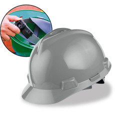 MSA Cap Style Hard Hats with Fas-Trac Ratchet Suspension - 475364 Gray