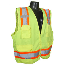 Radians Class 2 Heavy Duty Surveyors Vest, SV62, Hi-Viz Green