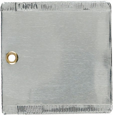 "Double Faced Aluminum Tags, 3"" x 3"" - Box of 50"