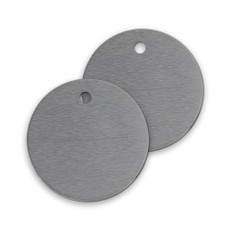 Unnumbered Round Aluminum Tags - 1 1/2"