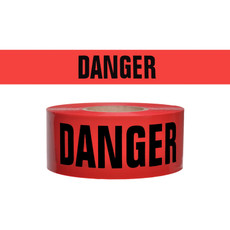 745-1005 Red Danger Barricade Tape | Presco