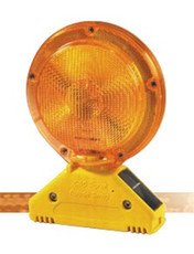 Solar Powered, A/C Barricade Light, SBACYA