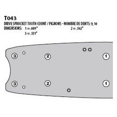38 In. Harvester Bar for Timbco 38 Inch Saw Heads (38TIMSN)