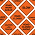 """48"""" x 48"""" Mesh Safety Signs"""