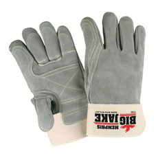 Memphis Lumber Jake Double Palm Full Leather Back Gloves, 1735