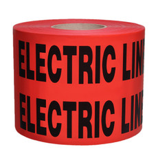 Presco Red Caution Buried Electric Line Below Tape 4 mil - B6104R6