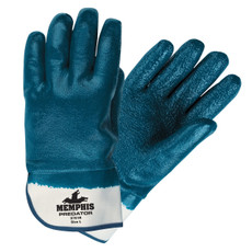 Memphis Fully Coated Rough Predator Thick Nitrile Gloves, 9761R