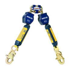 DBI-Sala Nano-Lok Twin Leg Quick Connect Self Retracting 6' Lifeline w/ Dynema Polyester Web