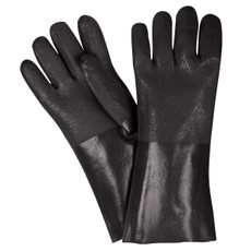 Memphis Double Dipped PVC Coated Jersey Lined Gauntlet Cuff Gloves, 6514SJ
