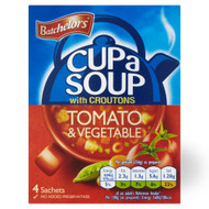 Batchelors Cup A Soup Tomato & Vegetable - 104g - Pack of 6 (104g x 6)