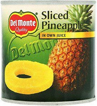 Del monte - Sliced Pineapple in own juice 435g