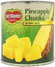 Del Monte Pineapple Chunks in Juice 435g Pack of 2
